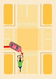 Riding against traffic