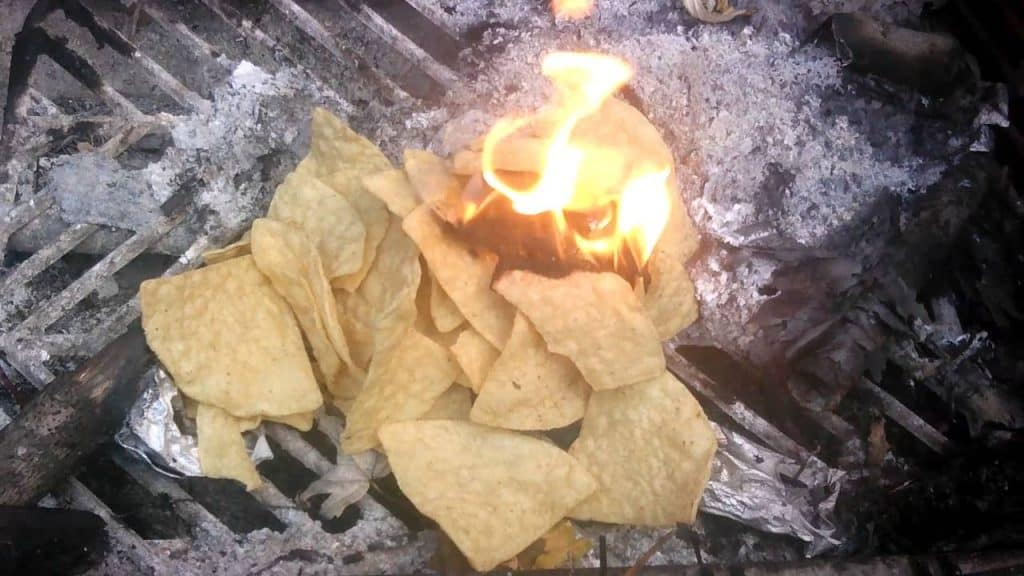 Corn Chips for fire camping