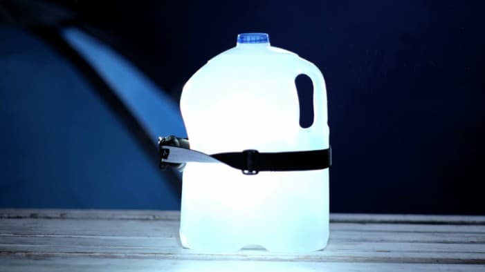 Light up Your Tent with a Water Bottle Lantern
